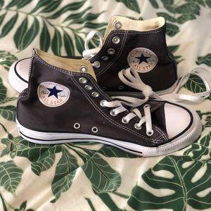 Grey Converse Chuck Taylor All Star High Tops NEW